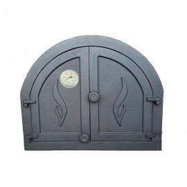 Дверца каминная/печная двустворчатая глухая с термометром ПАНАМА 2 - H3902 HUBOS