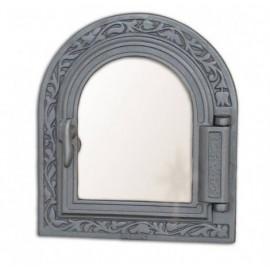 Дверца топочная/каминная со стеклом DPK9 - H1611