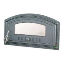 Дверца топочная/печная со стеклом правая DCH4 - H1006