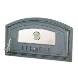 Дверца топочная/печная правая со стеклом и термометром DCH4Т - H1008