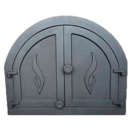 Дверца каминная/печная двустворчатая глухая ПАНАМА 1 - H3901 HUBOS