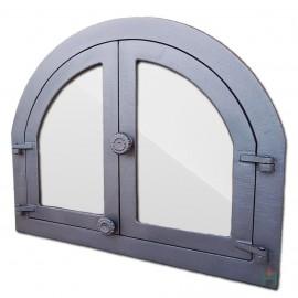 Дверца каминная/печная двустворчатая со стеклом ПАНАМА 3 - H3903 HUBOS