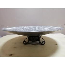 Садж из нержавеющей стали с подставкой кованой Ø500мм