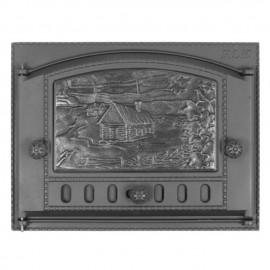 Дверка каминная ДК-2Б окрашенная 375х300х40мм