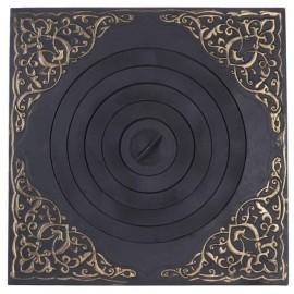 Плита печная под казан с рисунком с патиной ПК03 750x500мм
