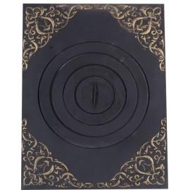 Плита печная под казан с рисунком с патиной ПК04 705x530мм