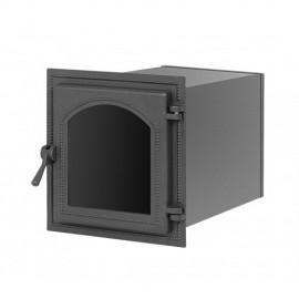 Духовой шкаф 220 антрацит со стеклом 336x300х450мм