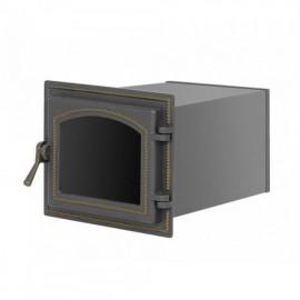 Духовой шкаф 260 бронза со стеклом 220х260х400мм