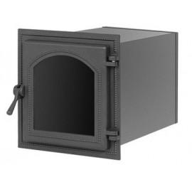 Духовой шкаф 270 антрацит со стеклом 293x262x400мм