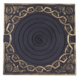 Плита печная под казан с рисунком с патиной ПК02 750x750мм